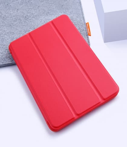 Silicone Case With Smart Cover for iPad 9.7-inch 5th Gen Red