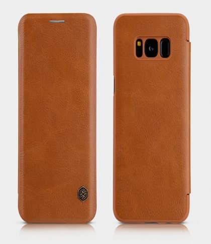 Galaxy S8+ Plus Genuine Leather Flip Wallet Case