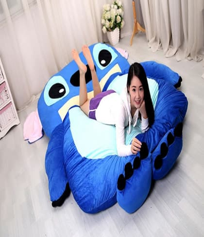 Flounder Stuffed Animal, Giant Stitch Plush Pillow Bed 230cm 7 5ft Smartykoo