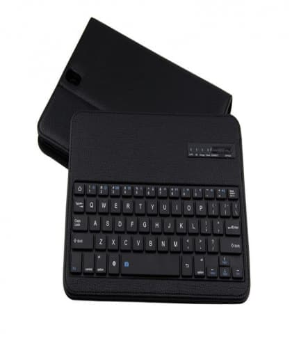 """Leather Folio Book Cover With Keyboard for Galaxy Tab S3 9.7"""""""